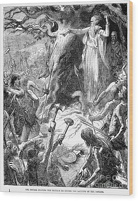 Druids And Britons Wood Print by Granger
