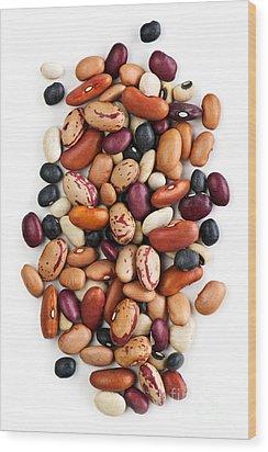 Dry Beans Wood Print by Elena Elisseeva