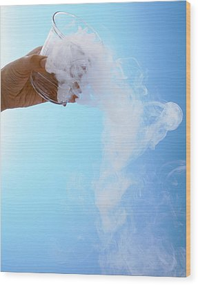 Dry Ice Wood Print by Gustoimages