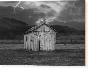 Dry Storm Wood Print by Ron Jones