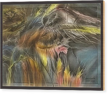 Wood Print featuring the pastel Dryleavescape 2009 by Glenn Bautista