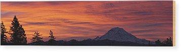 Dsc03437 - January Sunrise Pan Wood Print by Shirley Heyn