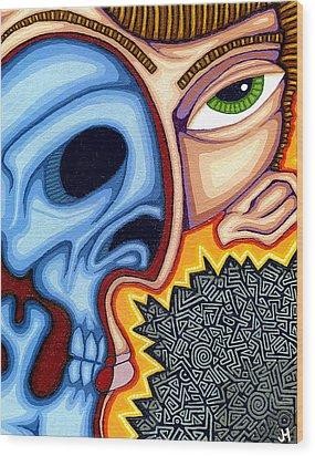 Duality Wood Print by Jason Hawn