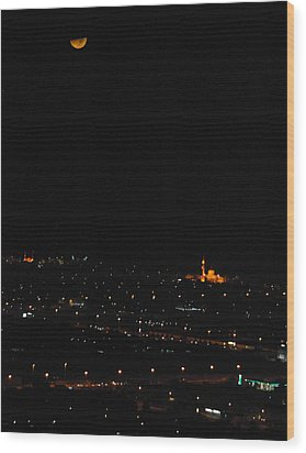 Wood Print featuring the photograph Dubai At Night by Steven Richman
