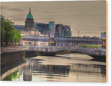 Dublin Wood Print by Barry R Jones Jr