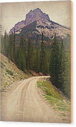 Dubois Mountain Road Wood Print by Marty Koch
