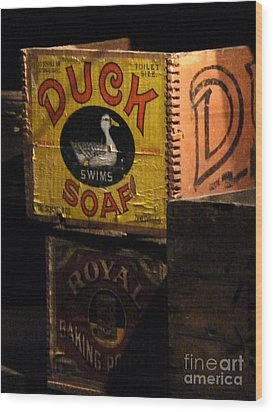Wood Print featuring the photograph Duck Soap by Newel Hunter