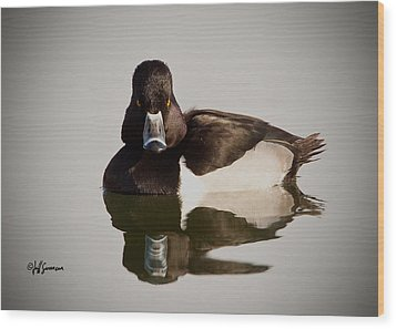 Duck With Attitude Wood Print by Jeff Swanson