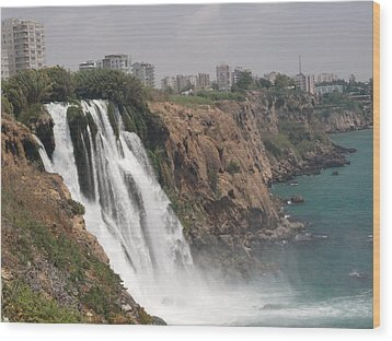 Duden Waterfalls In Turkey Wood Print by