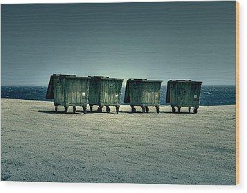 Dumpster Wood Print by Joana Kruse