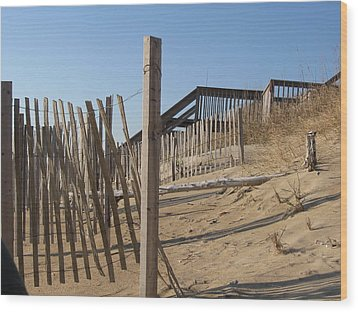 Dunes Wood Print by Kathy Benton