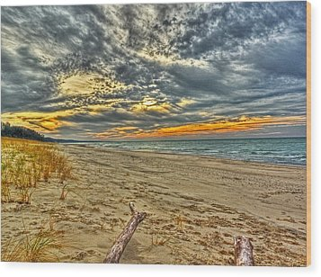 Wood Print featuring the photograph Dunes Sunset I by William Fields