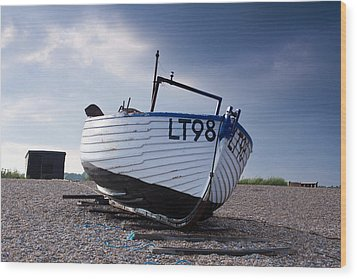 Dunwich Fishing Boat. Wood Print