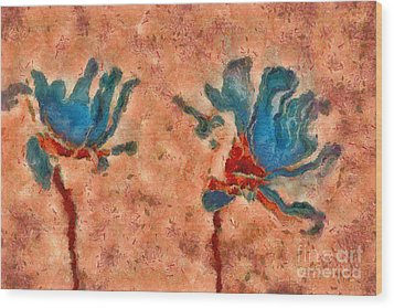 Duo Daisies - 02blt3dp1c Wood Print by Variance Collections