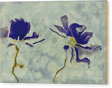 Duo Daisies Wood Print by Variance Collections