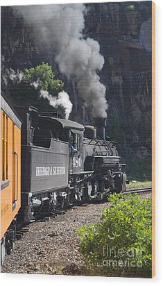 Durango And Silverton Historic Train Wood Print by Stuart Wilson and Photo Researchers