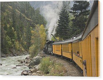 Durango-silverton Train - 1161 Wood Print