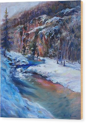 Durango Stream Wood Print by Bonnie Goedecke