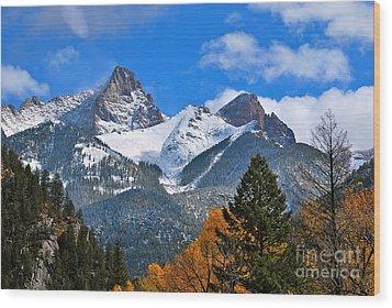 Durango To Silverton  Wood Print by Johanne Peale