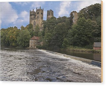 Durham Cathedral Wood Print by Trevor Kersley