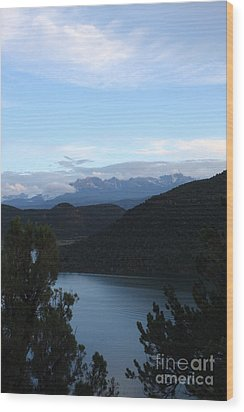 Wood Print featuring the photograph Dusk At Ridgway Reservoir by Marta Alfred