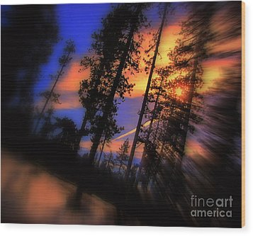 Wood Print featuring the photograph Dusk by Irina Hays