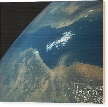 Dust Plume Over The Red Sea Wood Print by Stocktrek