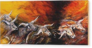 Dust Storm Wood Print by J Vincent Scarpace