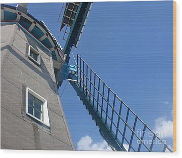Dutch Windmill Wood Print by Anastasis  Anastasi