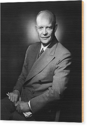 Wood Print featuring the photograph Dwight Eisenhower - President Of The United States Of America by International  Images