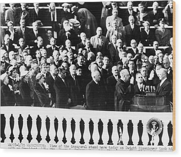 Dwight Eisenhower First Inauguration Wood Print by Everett