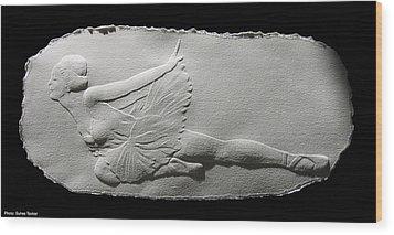 Dying Swan Wood Print by Suhas Tavkar