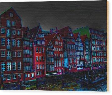 Dyke Road  -  Hamburg Wood Print by EricaMaxine  Price