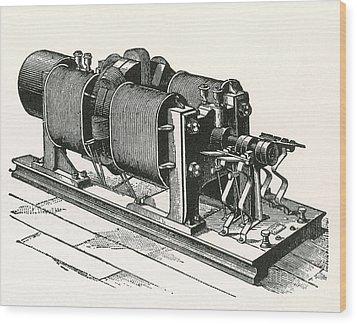 Dynamo Electric Machine Wood Print by Science Source