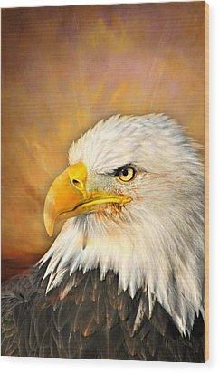 Eagle Burst Wood Print by Marty Koch