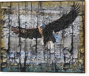 Wood Print featuring the digital art Eagle Imprint by Carrie OBrien Sibley