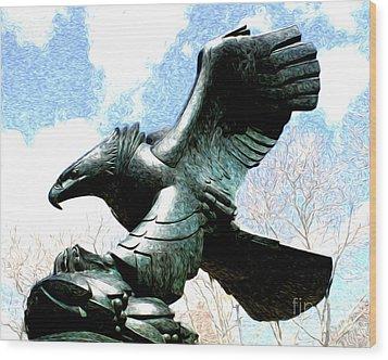 Eagle Of The East Coast Memorial Wood Print by Anne Raczkowski