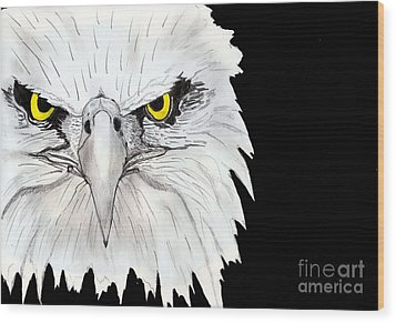 Eagle Wood Print by Shashi Kumar