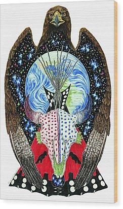 Eagle Tipi Wood Print by Tim McCarthy