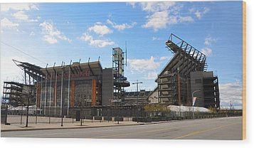 Eagles - The Linc Wood Print by Bill Cannon