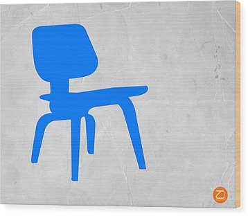 Eames Blue Chair Wood Print by Naxart Studio