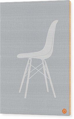 Eames Fiberglass Chair Wood Print by Naxart Studio