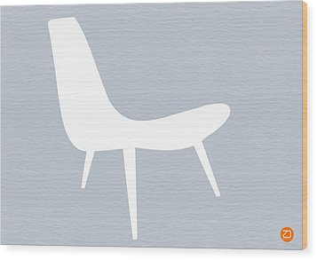 Eames White Chair Wood Print by Naxart Studio