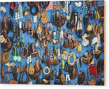 Ear Rings  Wood Print by Anjeh Ambroise