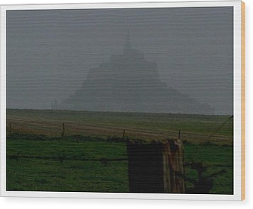 Wood Print featuring the photograph Early Am Approach To Le Mont-michel by Frank Wickham
