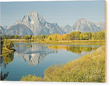 Early Autumn At Oxbow Bend Wood Print