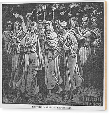 Early Christian Marriage Wood Print by Granger