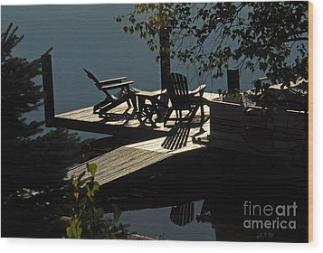 Wood Print featuring the photograph Early Morning At The Lake by Cindy Manero