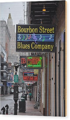 Early Morning Bourbon Street Wood Print by Bill Cannon