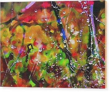 Early Morning Dew Wood Print by Judi Bagwell